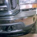 chrome front bumper repair