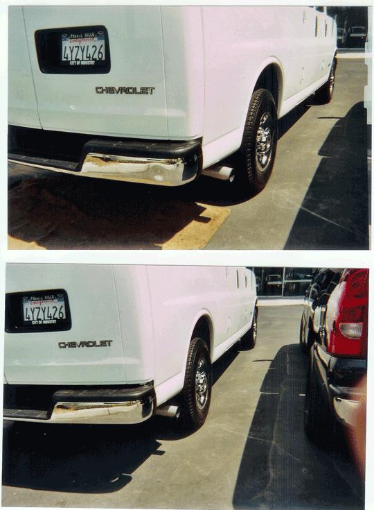 rear van bumper repair