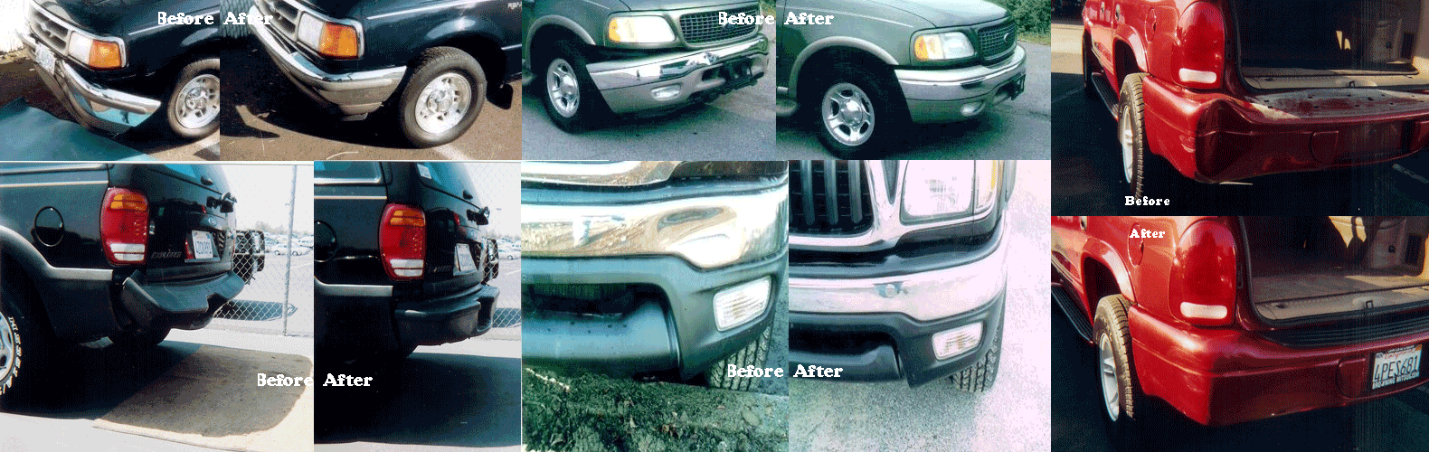 all types of bumper repair